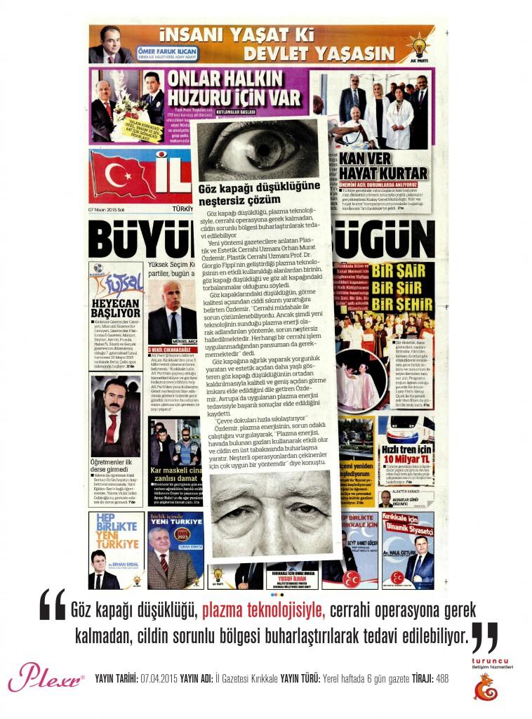 Naturamed-Plexr İl Gazetesi Kırıkkale 07.04.2015