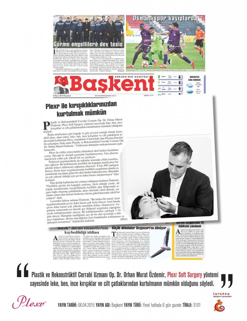 Naturamed-Plexr Başkent Gazetesi 06.04.2015