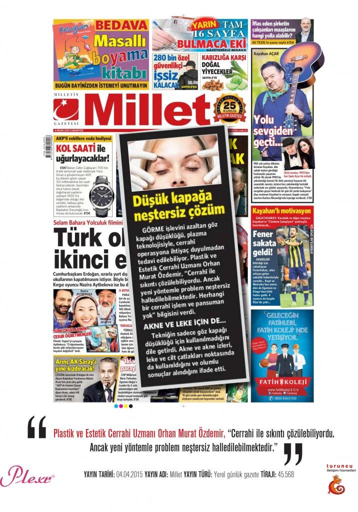 Naturamed-Plexr Millet Gazetesi 04.04.2015