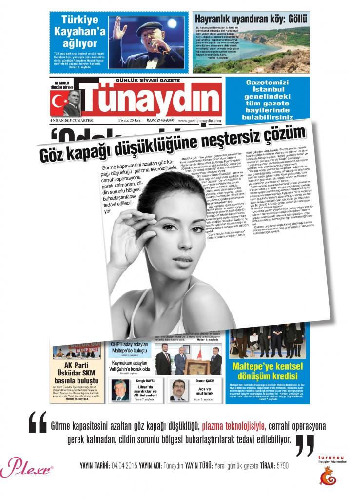 Naturamed-Plexr Tünaydın Gazetesi 04.04.2015